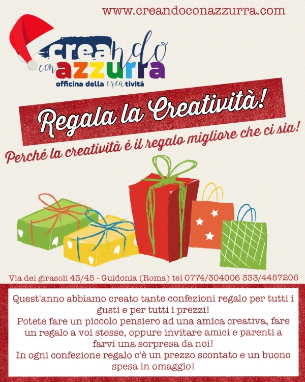 Regala la creatività!