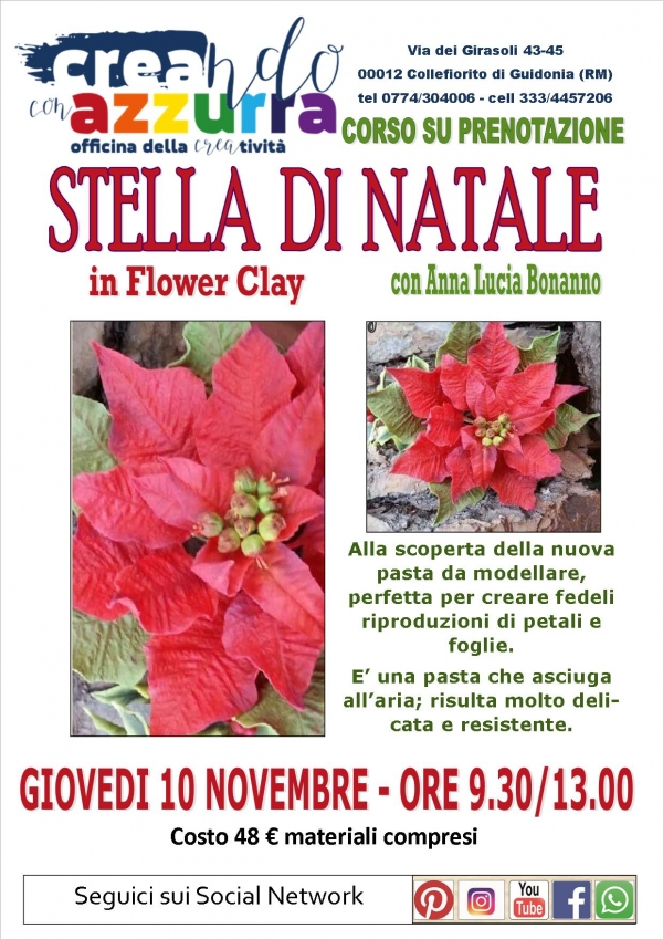 Stella di Natale in Flower Clay