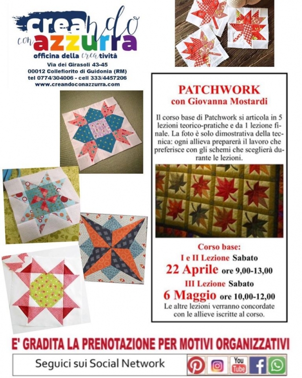 Patchwork: nuovo corso base